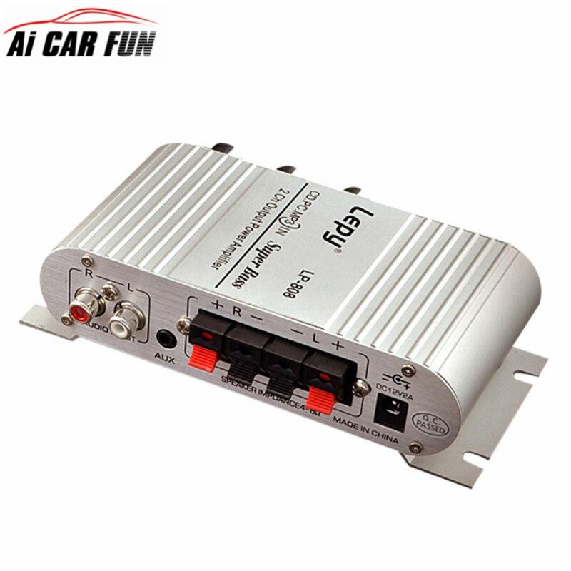 12V Hi Fi Stereo Audio Amplifier Home Hi Fi Bass Speaker Loudspeaker with USB Port FM