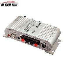 12 V Hi-Fi Stereo Amplificatore Audio di Casa Hi-Fi Bass Speaker Altoparlante con Porta USB FM per Auto Auto Mini MP3 MP4 PC Radio
