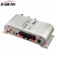 12V Hi-Fi Stereo Audio Amplifier Home Hi-Fi Bass Speaker Loudspeaker with USB Port FM for Car Auto Mini MP3 MP4 PC Radio