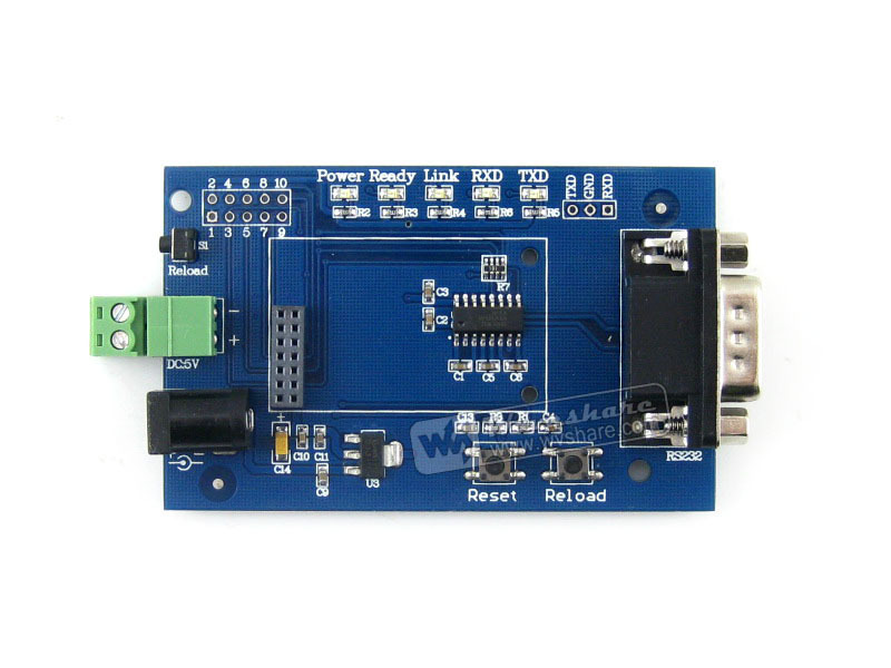 Parts 5pcs/lot WIFI232 RJ45 Ethernet Port Serial Port WIFI to UART USB to UART WIFI Module +Antenna