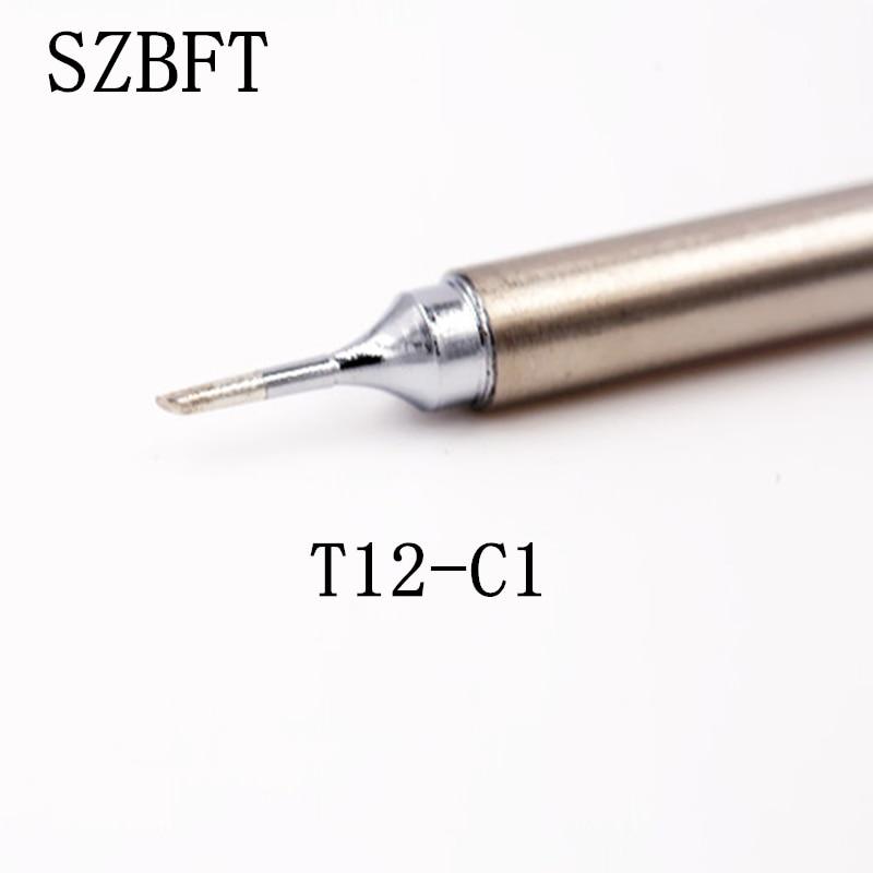 Soldering Iron Tip  Welding Tip Welding Stings T12-C1 K KF KU WB2 WD52 BZ  For Hakko Soldering Rework Station FX-951 FX-952
