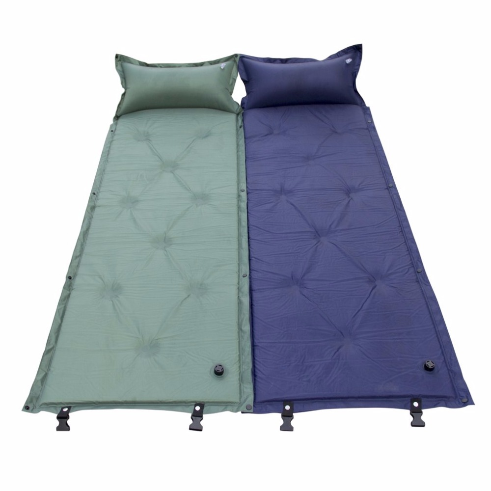CQD-1002 Single Person Inflatable <font><b>Air</b></font> Mattress Pillow Folding Sleeping Bag Bed Outdoor Camping Travel <font><b>Air</b></font> Bed Pad XWG