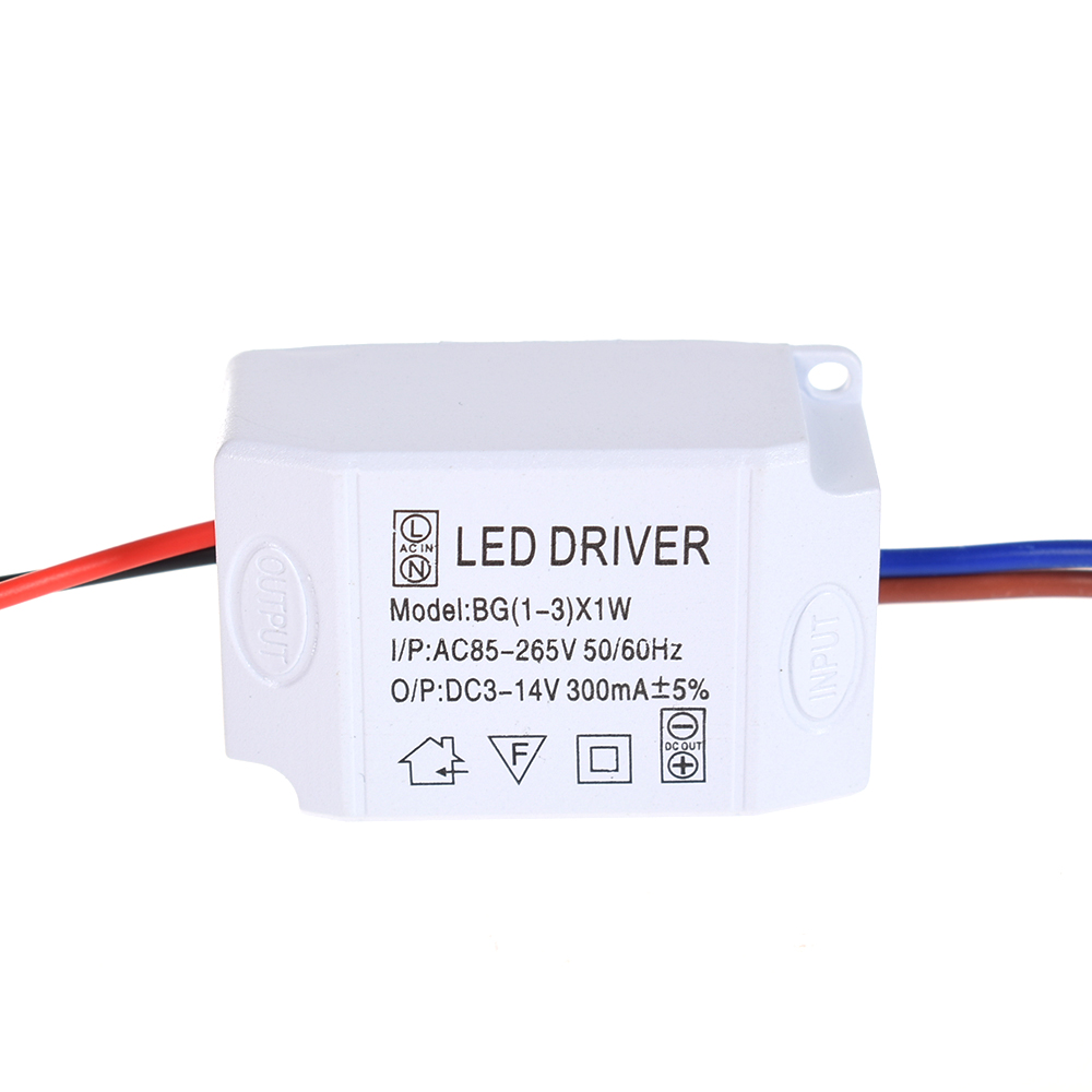 1X AC 85V-265V to DC 3V-14V LED Electronic Transformer Power Supply Driver 3X1W стоимость