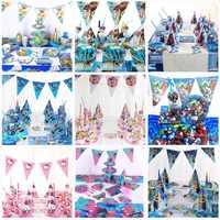 82 pcs crianças festa de aniversário suprimentos lembranças decorações super-herói mickey mouse festa suprimentos descartáveis utensílios de mesa favores