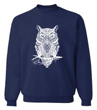 2017 new spring winter fashion owl animal sweatshirt hoodies hip hop style streetwear slim fit brand clothing tracksuit men