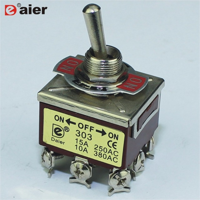 US $4.82 |2Pcs Heavy Duty Electrical Switches Toggle Switch ON/OFF/ON on