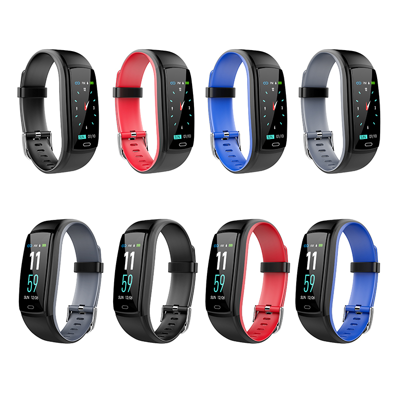 smart band 0 96inch color screen heart rate blood pressure monitoring sports bracelet fitness smart tracker for Android and IOS in Smart Wristbands from Consumer Electronics