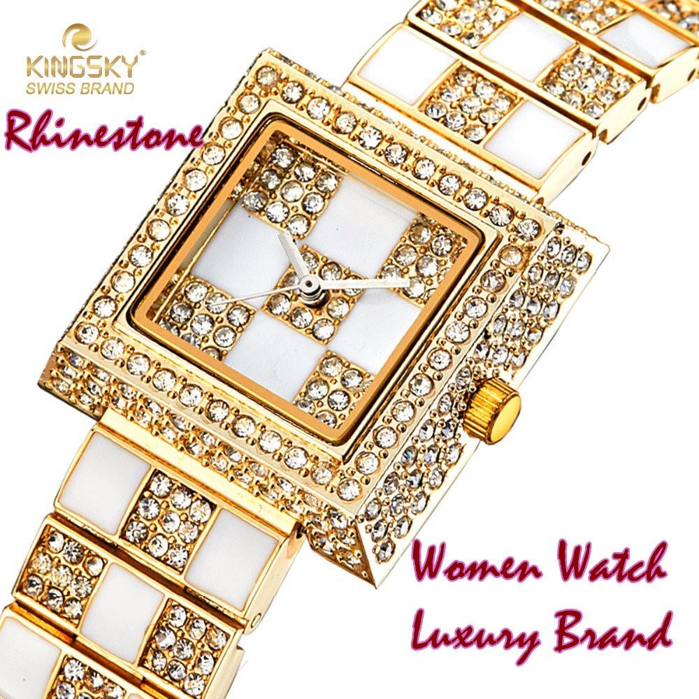 Rhinestone Women Watch Luxury Brand