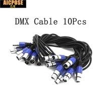 10Pcs Lots 3 PIN DMX Signal Line 1M 2M 3M 4M 5M 6M 7M 8M 9M