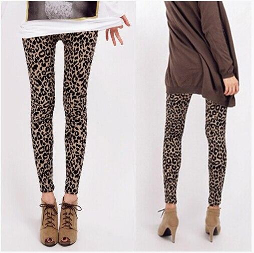 Summer leggings 2016 Women Hot Leggings Leopard Rose Color printing People Dyeing Leggings , Fitness Sexy LEGGING Drop Ship