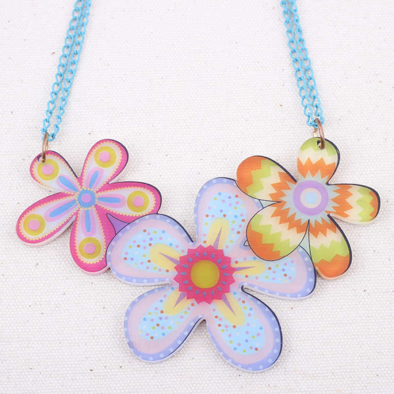 Bonsny flowers lovely new 2014 spring/summer style necklaces & pendant for girls design style woman man jewelry cute fashion