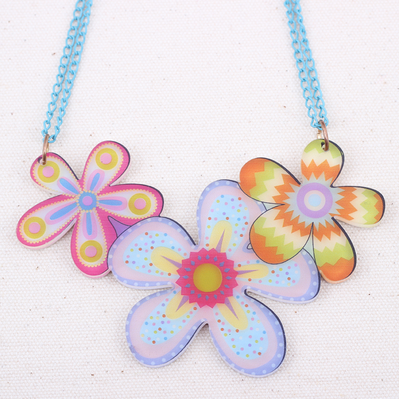 Bonsny flowers lovely new 2014 spring summer style necklaces pendant for girls design style Design and style fashion jewelry
