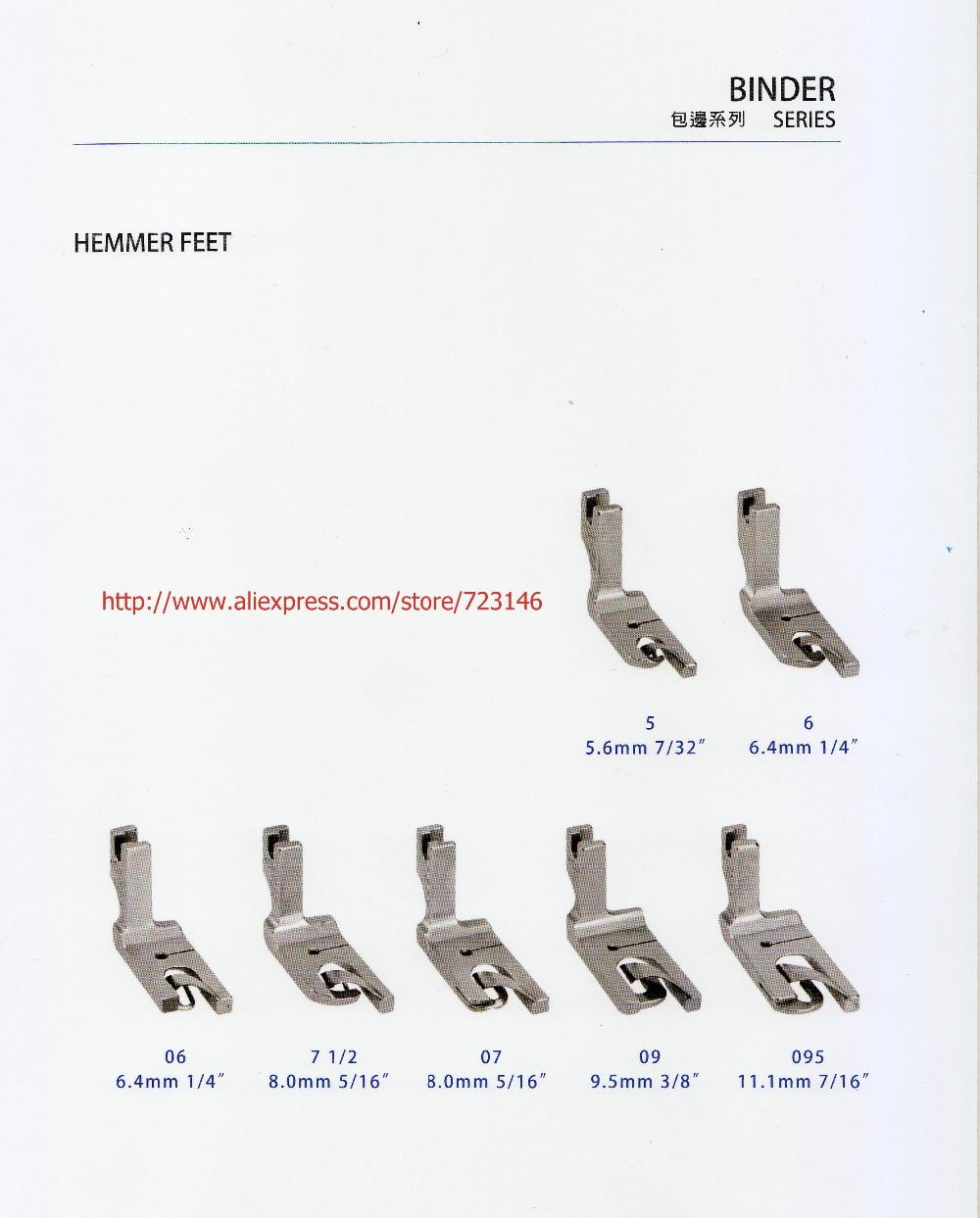 ᗑ】4 unids HEMMER PIES SERIE pespunte industrial máquina de coser ...