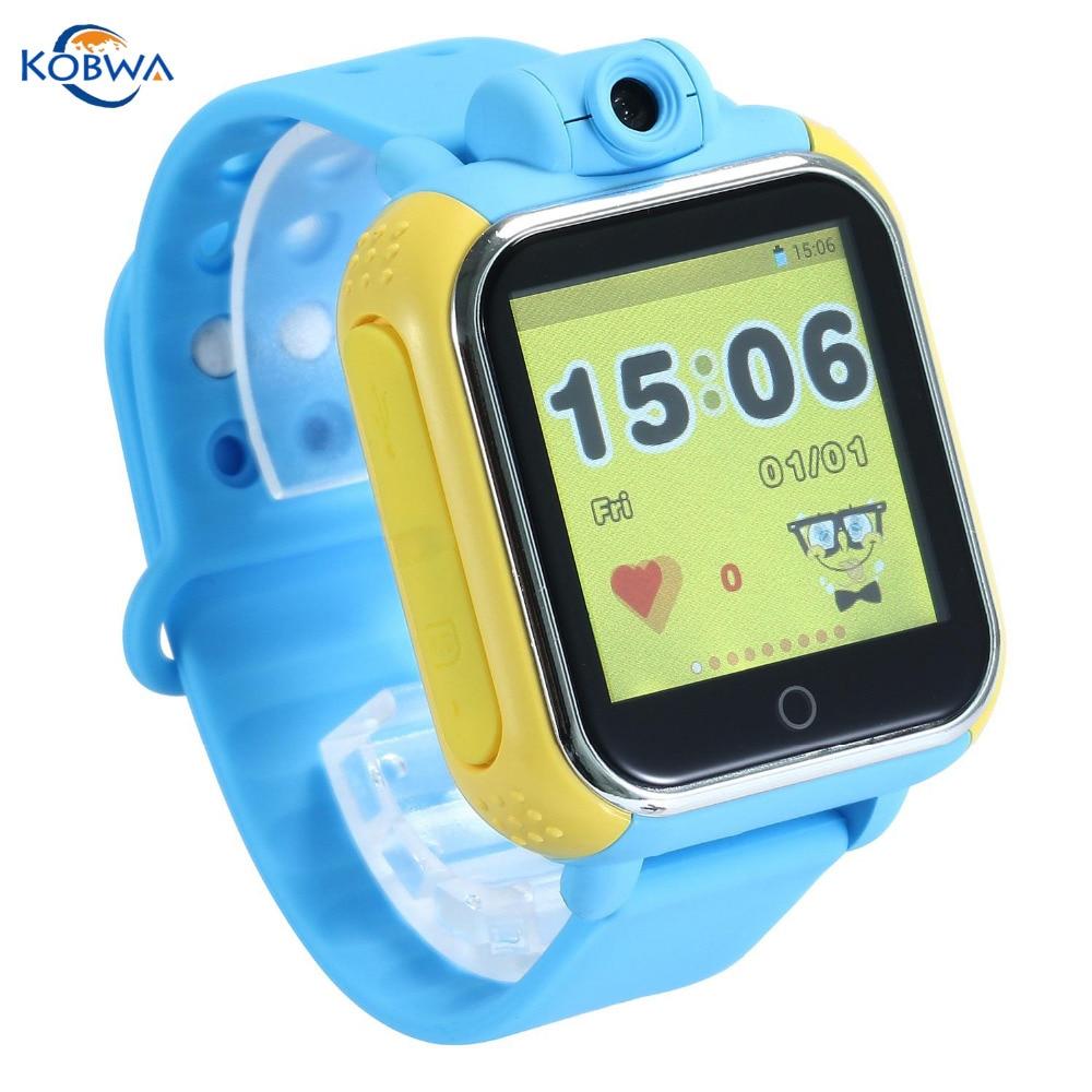 imágenes para Actualiza gps kids smart watch con función de teléfono táctil wifi ubicación muñeca de la pantalla sim reloj bebe con micrófono para apple ios android