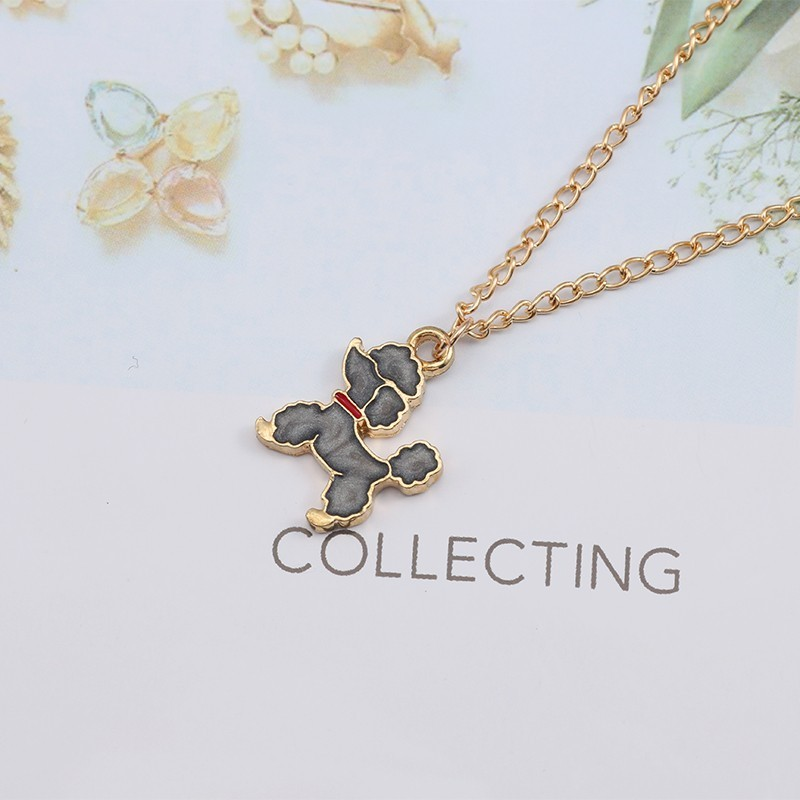 Necklaces Jewelry Gifts Pendants Lovely Tiny Poodle Dog Necklace Women New New Puppy Pendant Necklaces Cartoon Animal Jewelry for Kids Children Gifts