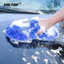Car Care Cleaning Tool Brushes Ultrafine Fiber Chenille Wash Gloves Microfiber Motorcycle Washer