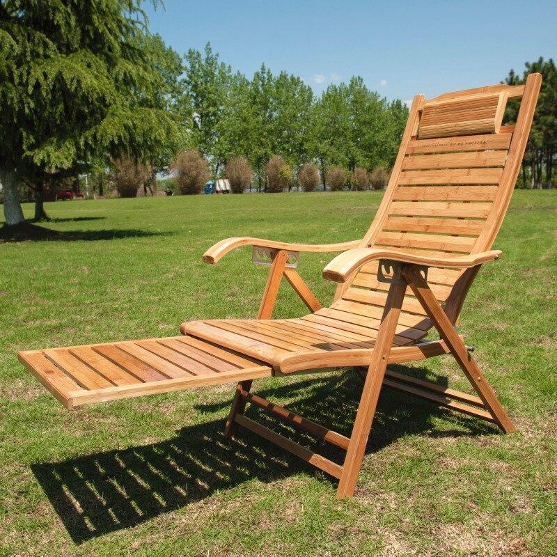 Mecedoras de bambú silla reclinable Feliz fresco ancianos siesta ...