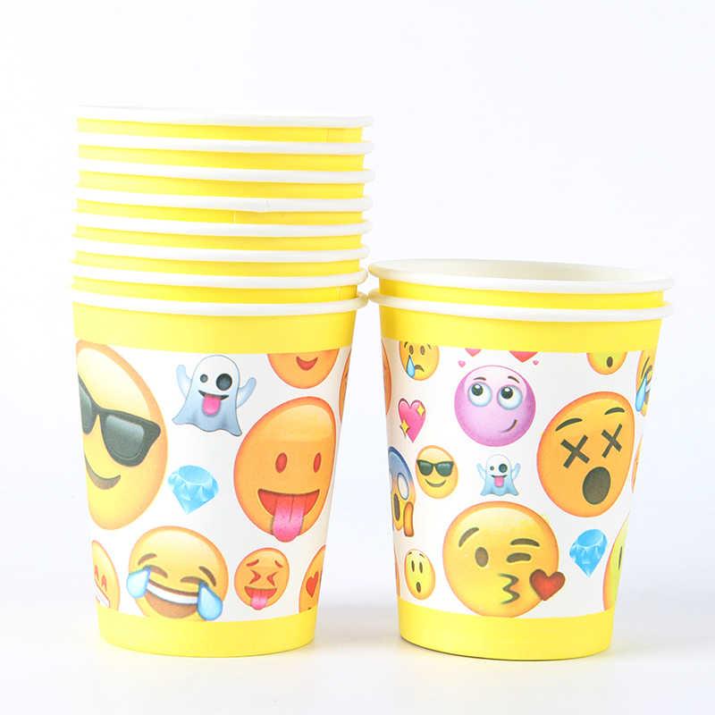 20 sztuk/paczka Emoji theme strona papierowa serwetka dla dzieci z okazji urodzin party papier ręcznik Baby Shower Party Decor jednorazowe zastawy stołowe sup