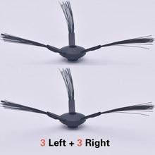 Pièces de rechange pour aspirateur ilife A4 A4S A6 X620 A8 A40 X5 V5 V5S V5pro (CW310), 3 paires de brosses latérales noires