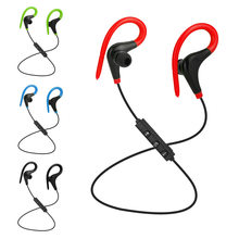 Wireless Bluetooth Sports Earphones Stereo Headset Ear hook BT-01 Hifi Earbuds Headphones With Mic for iPhone Samsung LG Xiaomi(China)