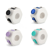 Fidget Ring Stress Relief Finger Fidget Cube Fashion Stress Relief Reduce Pressure Dice 3D Puzzle Toys