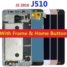 For Samsung Galaxy J5 2016 J510 LCD Display Touch Screen J510FN J510F J510M J510H/DS Adjust Brightness Frame Home Side Button цена и фото