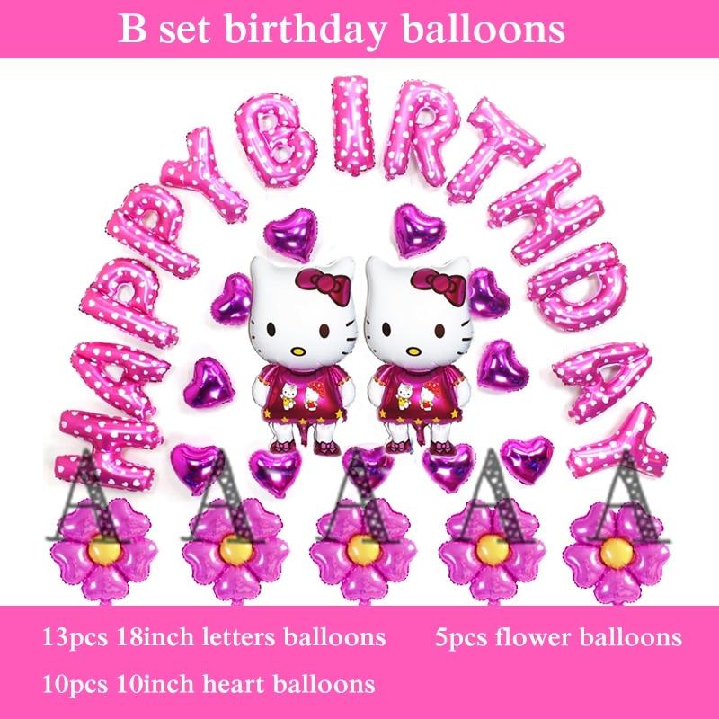 helium balloons birthday hello kitty party balloons 30pcs happy birthday balloon