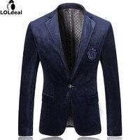 Men Suit Jackets Gold Velvet Male Dresses High Quality Casual Blazer Fashion Brand Designers Slim Fit
