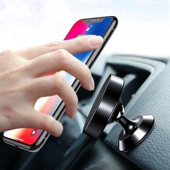 Magnetic Car Holder 360 Degree Dashboard Mobile Phone Holder Stand Magnet Air Vent Grip Mount Bracket Car Universal Phone Holder
