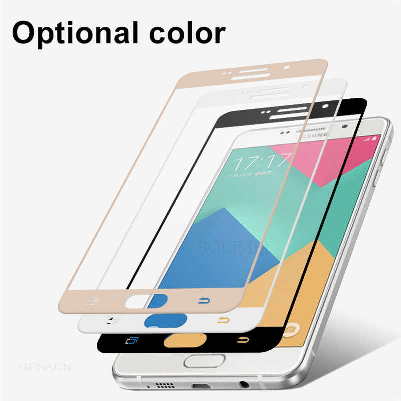 9H 2. 5D Full Cover Tempered Glass For Samsung Galaxy A6+ A8 2018 A3 A5 A7 2017 2016 J3 J4 J6 2018 Screen Protector Film Glass