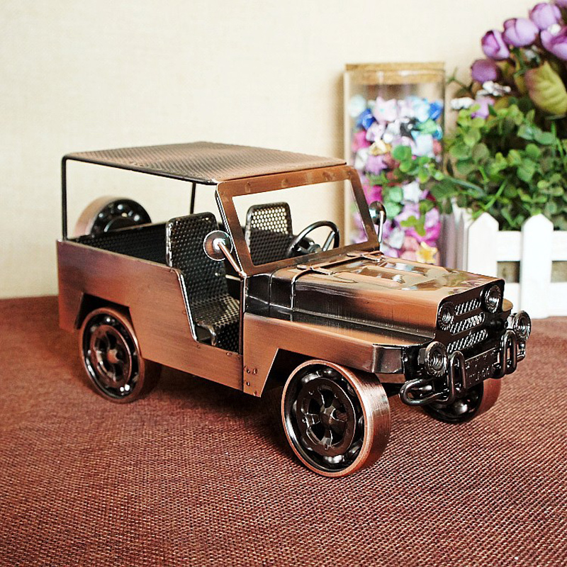 Retro Classic Car Old Fashioned Model Vintage Metal Craft Home ...