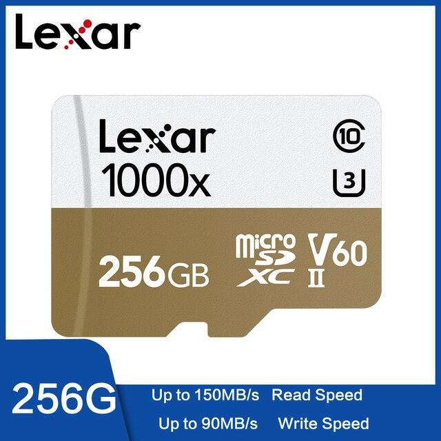 Lexar 2019 nuevo Micro SD 150 MB/S 1000x Clase 10 32GB 64GB micro SDXC de 128GB tarjeta de memoria TF lector UHS para Drone videocámara deporte