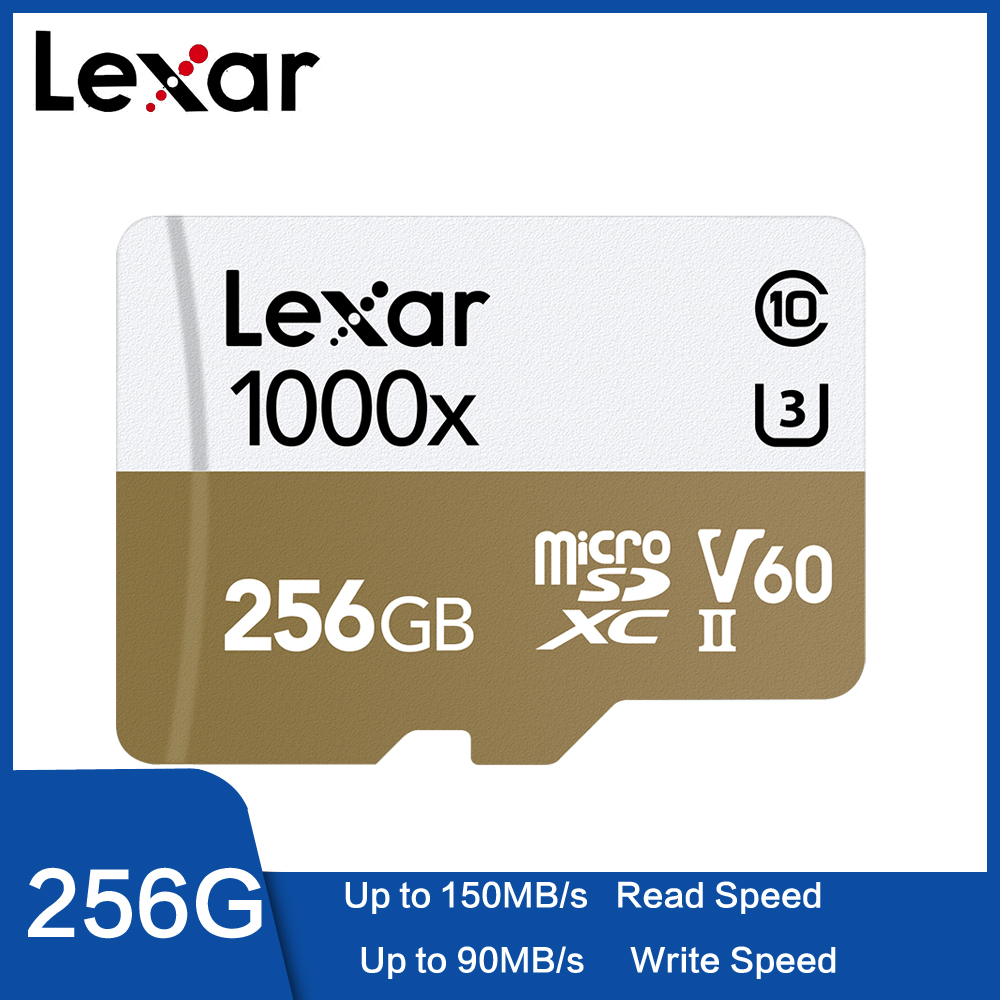 Original Lexar 1000x Micro SD Clase 10 32GB 128 GB 64 GB  Micro SDHC Tarjeta De Memoria Tf Lector UHS Drone Videocámara Deporte