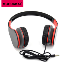 MGHUAKAI New 2017 Headset Stereo Earphone Phone Computer Headsets Headband Sport Headphones for Samsung Android Phone
