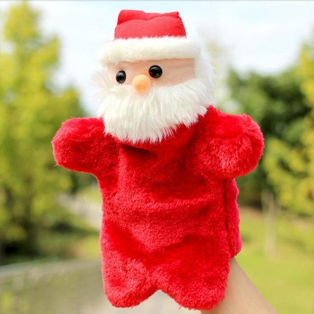 New Arrival Christmas Hand Puppet Cartoon Santa Claus Plush Puppets Doll Baby Toys Brinquedo Marionetes Fantoche
