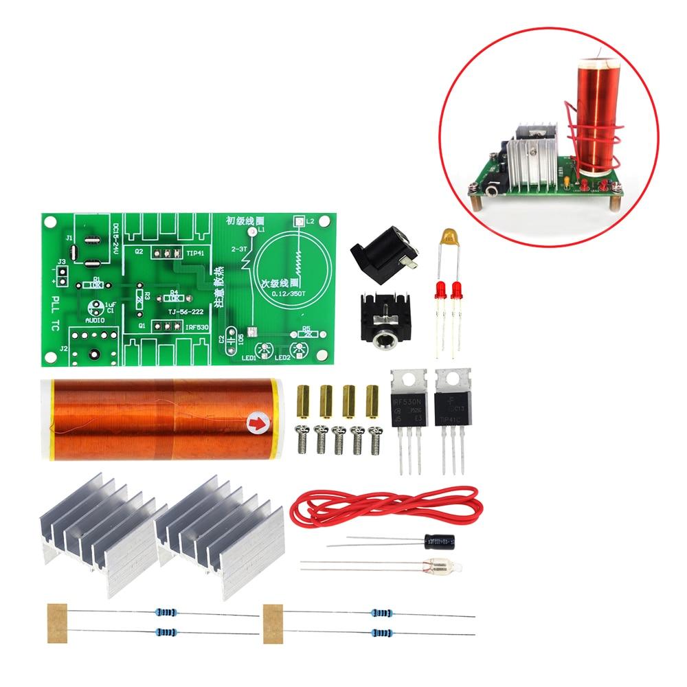 hight resolution of mini tesla coil kit 15w mini music tesla coil plasma speaker tesla wireless transmission dc 15 24v diy kit