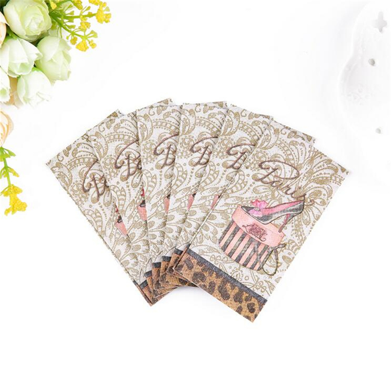 2018 New Tissue Paper 10Pcs/lot  3-Layer Classic Wedding Pocket Paper Napkins For Decoupage Birthday Party Decorations Kids 1