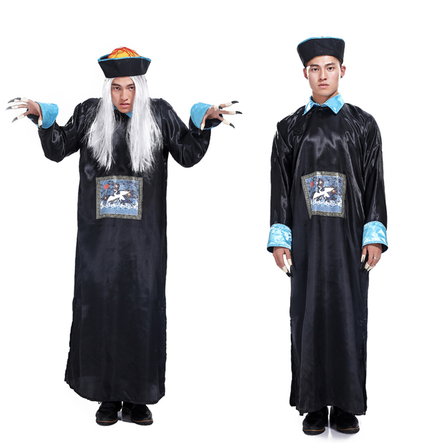 Free shipping Halloween Masquerade Horror Qing robes male adult costume zombie costume role playing the spirits  sc 1 st  AliExpress.com & Free shipping Halloween Masquerade Horror Qing robes male adult ...