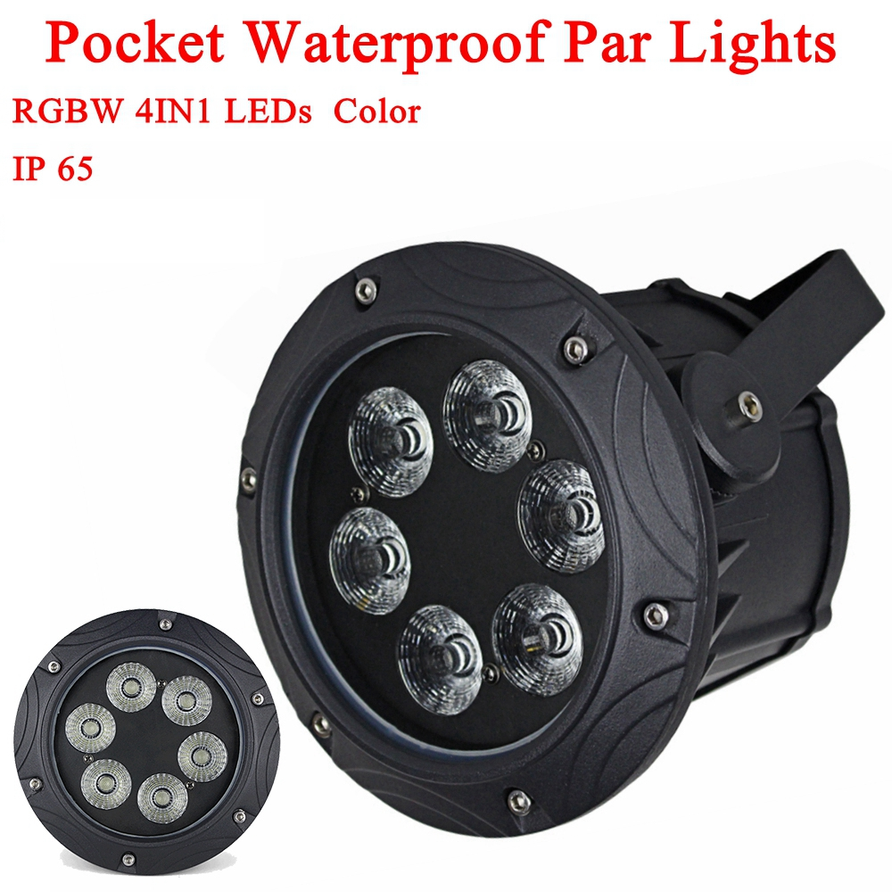 Waterproof 6*10W RGBW RGB Led Stage Light 100W Par Light With DMX512 Master Slave Flat DJ Equipments Controller for Party Disco