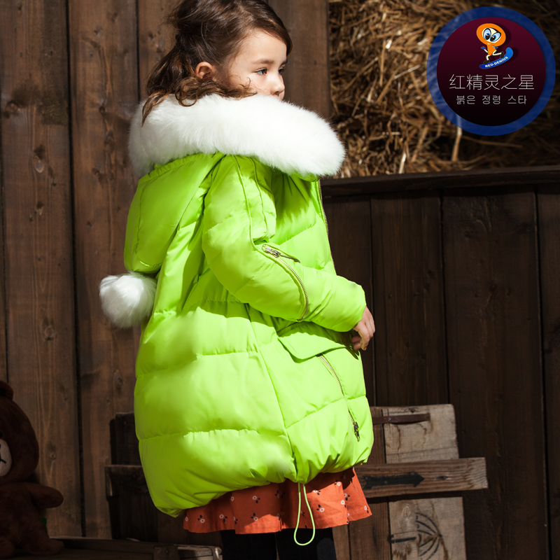 2018 Teenage Children Down Jacket Girl Warm Thickened Long Winter Coat Girls' Parka Outwear Winter Down Jacket for Girls 120-150 цена
