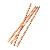 Paper Drinking Straws Party Supplies Cylinder Orange Zebra Stripe 20 8cm X 9cm 1 Packet Approx