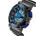Мода Мужская СВЕТОДИОДНЫЕ Электронные Часы Многофункциональный Водонепроницаемый Спорт Военная Шок Двойной дисплей Часы Relogio Masculino Новые Поступления