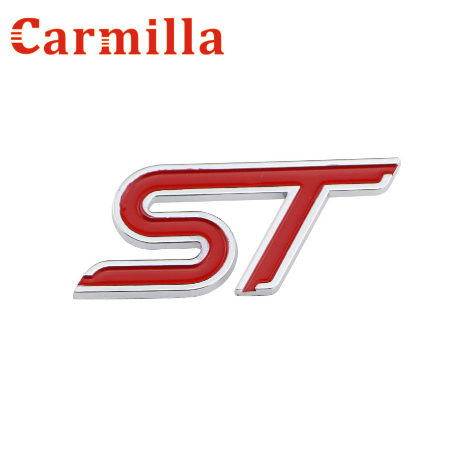 Carmilla ST S ABS Chrome Grille Sticker for Ford Focus Fiesta Ecosport Kuga Escape Cruze Mondeo Car Styling Sports Sticker