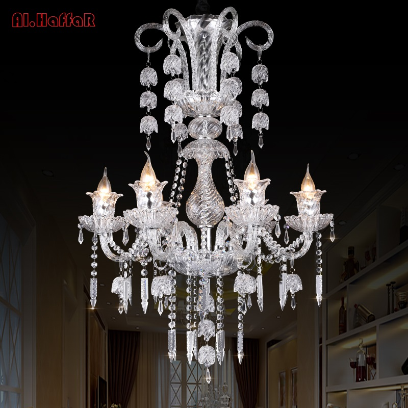 hot selling smoked k9 crystal chandelier lustre crystal chandeliers lustres de cristal chandelier e14 led ac lampshades included New Modern LED K9 Lustre Crystal Chandeliers Lustres De Cristal Chandelier AC110V/220V Indoor Pendant Lamp Living Room chandel