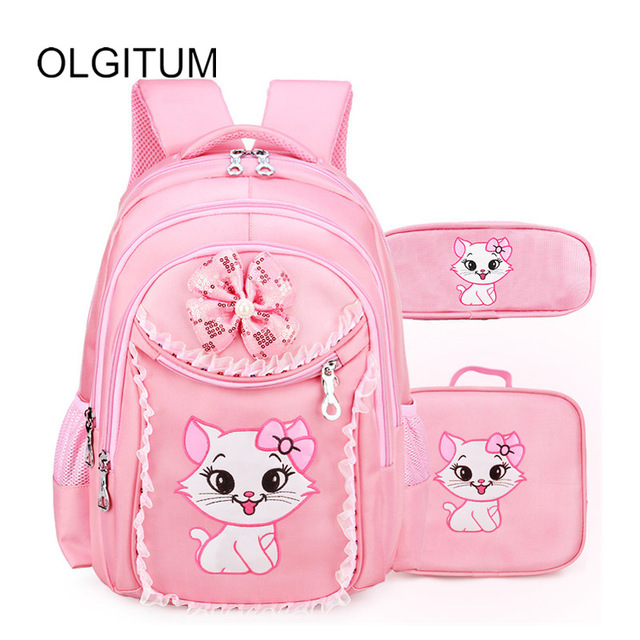 Sweet Cat Cartoon Pattern School Bags 7-9-12 years old Kid Backpack Korean cute Children School Backpack Girl Bag ...