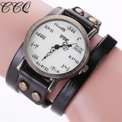 Ccq brand fashion vintage creative leather math formula equation watch casual women bracelet quartz watch relogio.jpg 250x250