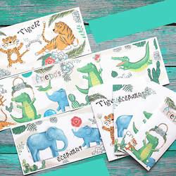 Мультяшные животные каваи бумажный конверт с буквами Комплект для свадьбы Приглашения Рождество День рождения Канцелярские