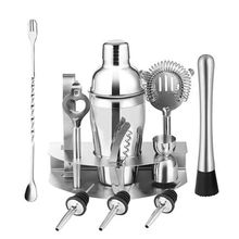 12 pcs Stainless Steel Cocktail Shaker Mixer Drink Bartender Tools Bar Set Kit New 2019