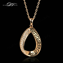 Austrian Stellux Cubic Zirconia Necklaces & Pendants 18K Rose Gold Plated For Women