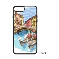 Italy Roma Map Watercolor Painting Pizza Venice Leaning Tower Of Pisa Phone Case For IPhone X